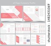 16 page company profile design... | Shutterstock .eps vector #1482431069