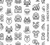 child adoption seamless pattern ... | Shutterstock .eps vector #1482437000