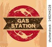 gas station seal over vintage... | Shutterstock .eps vector #148244228