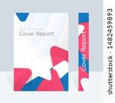 vector abstract design  cover... | Shutterstock .eps vector #1482459893