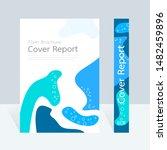 vector abstract design  cover... | Shutterstock .eps vector #1482459896