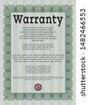 green warranty certificate... | Shutterstock .eps vector #1482466553