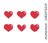 heart vector icons  love symbol ...   Shutterstock .eps vector #1482473219
