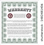 green warranty template. with... | Shutterstock .eps vector #1482481406
