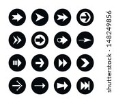 16 arrow sign icon set 02.... | Shutterstock .eps vector #148249856