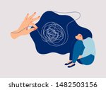 psychotherapy and psychology... | Shutterstock .eps vector #1482503156