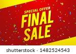 final sale banner on red...   Shutterstock .eps vector #1482524543