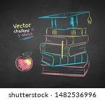 vector color chalk drawn... | Shutterstock .eps vector #1482536996