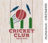 Cricket Club Patch Or Sticker....