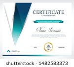 certificate of appreciation... | Shutterstock .eps vector #1482583373