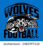 wolves football team design... | Shutterstock .eps vector #1482597110