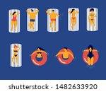 people swimming set  summer... | Shutterstock .eps vector #1482633920