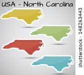 stickers in form of north... | Shutterstock .eps vector #148263443