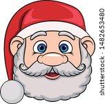 Head Of Cartoon Smiling Santa...