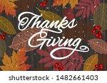 thanksgiving holiday banner.... | Shutterstock .eps vector #1482661403