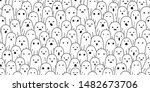ghost seamless pattern...