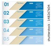 design clean number banners... | Shutterstock .eps vector #148267604