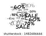 pattern with offers  discount...   Shutterstock .eps vector #1482686666