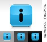 information icon set. blue...