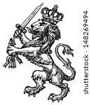 heraldic lion | Shutterstock . vector #148269494