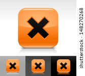 delete icon set. orange color...