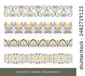 set of decorative ancient greek ... | Shutterstock .eps vector #1482719123