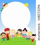 kids and frame | Shutterstock .eps vector #148272296