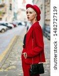 Outdoor Autumn Fashion Portrait ...