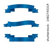 blue ribbons set.vector ribbon... | Shutterstock .eps vector #1482745319