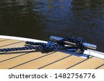 Mooring Knot On The Cliet Boat...