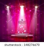 spotlight effect scene background  - stock vector