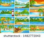 set of tropical ocean nature...   Shutterstock .eps vector #1482772043