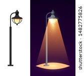 streetlight concept. garden... | Shutterstock .eps vector #1482775826