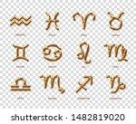 golden zodiac symbols with...   Shutterstock .eps vector #1482819020