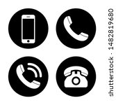 phone icon vector. call icon... | Shutterstock .eps vector #1482819680