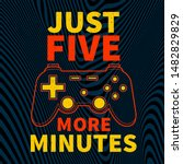 gamer joypad console controller ... | Shutterstock .eps vector #1482829829