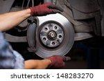 repairing brakes on car | Shutterstock . vector #148283270