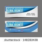 set of modern global business... | Shutterstock .eps vector #148283438