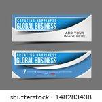 Set Of Modern Global Business Design Banner Template | Shutterstock vector #148283438