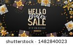 christmas poster with golden... | Shutterstock .eps vector #1482840023