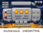 space game background template... | Shutterstock .eps vector #1482847946