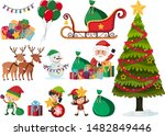 set of christmas elements on... | Shutterstock .eps vector #1482849446