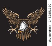 vintage eagle vector and logo   Shutterstock .eps vector #1482851330