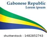 flag of gabon  gabonese... | Shutterstock .eps vector #1482852743