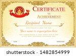vintage retro frame certificate ... | Shutterstock .eps vector #1482854999