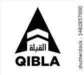 qibla sign design. arabic text... | Shutterstock .eps vector #1482857000