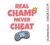 kawaii video games themed t... | Shutterstock .eps vector #1482873179