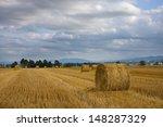 Straw Rolls On Field