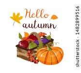 vector composition with autumn...   Shutterstock .eps vector #1482899516