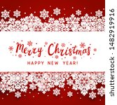 christmas greeting card with... | Shutterstock .eps vector #1482919916